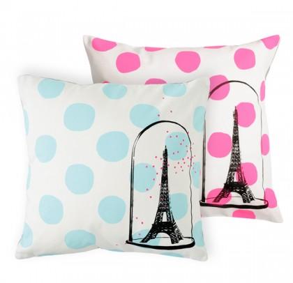 Eiffel dots cushion