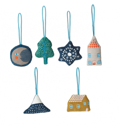 Night Night Decoration (set of 6)