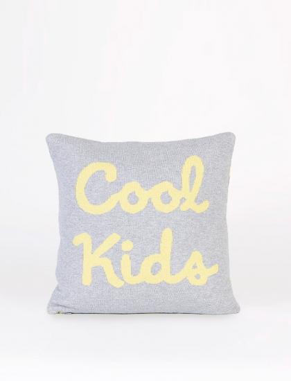 Cojín Cool Kids gris/amarillo