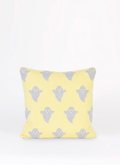 Yellow Ghosts cushion