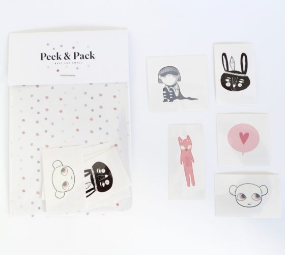 Tattoos for kids by Peek&Pack