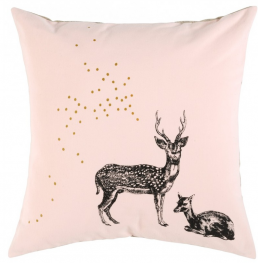 Children bed linen cushion cover bambi pale pink La Cerise sur Le Gateau