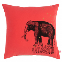 Children bed linen cushion Simone elephant  La Cerise sur Le Gateau