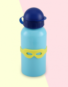 Baby things blue water bottle