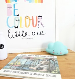 "Kids wall decor posters and prints Amayadeeme ""Be color"""
