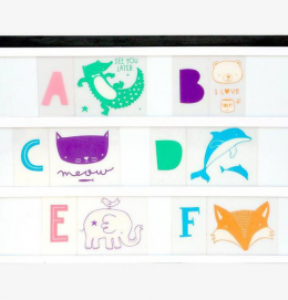Wall art for kids Lightbox letter pastel set for kids decor