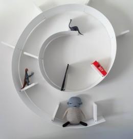 Kids furniture shelf Ron Arad to Kartell white
