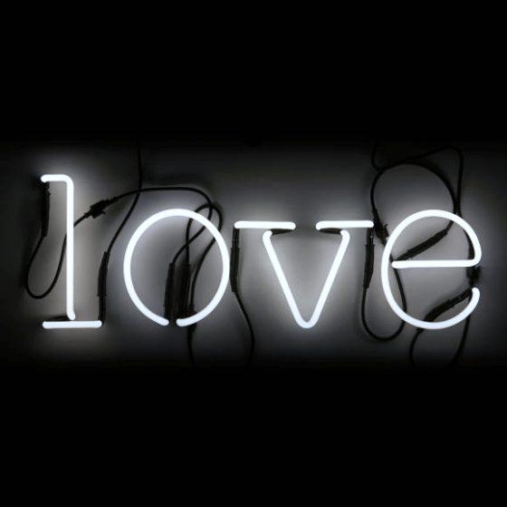 Night light for kids Neon art words  LOVE Seletti