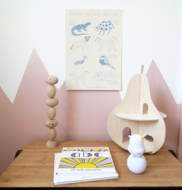 Children wall decoration spotted animals for kids rooms.