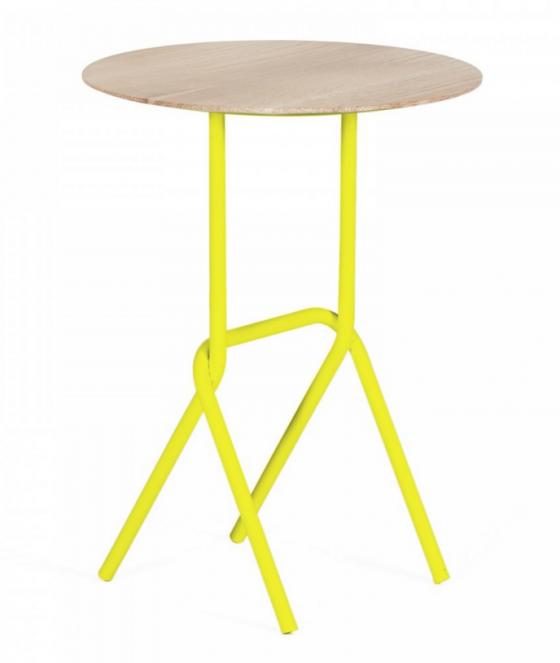 children bedroom furniture side table lemon yellow