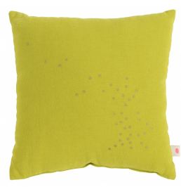 Kids cushion childrens bedroom ideas La Cerise sur le Gateau yellow
