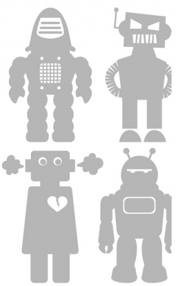 Boys wall art big robot for baby bedroom Aimee Wilder wallpaper