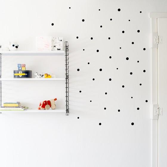 Childrens walls art dots Moonwalk Tedybear black