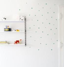 Childrens walls art dots Moonwalk Tedybear Mint