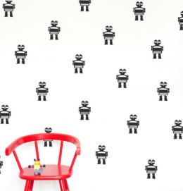 Wall stickers for kids Robot Moonwalk Teddybear