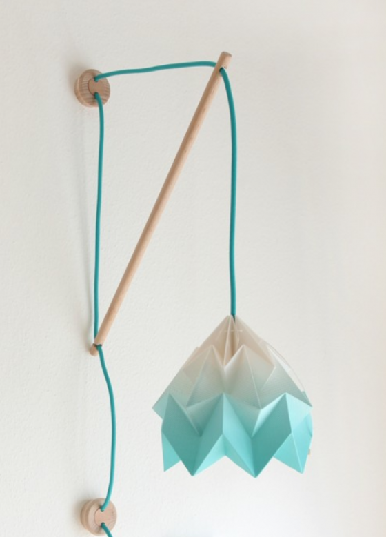 Kids bedroom design, mint wall fixture Kilmoppe