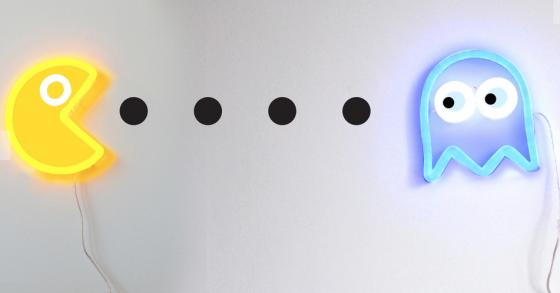 Kids light neon-led Pac'man Electric Confetti