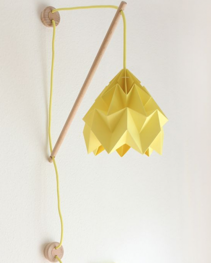 Wall Fixture Klimoppe pink- cord yellow