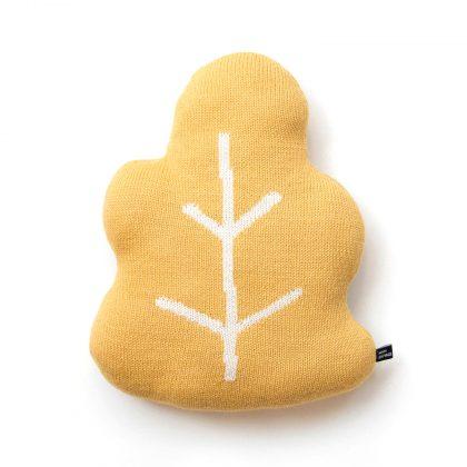 Oak Leaf Pillow, mustard