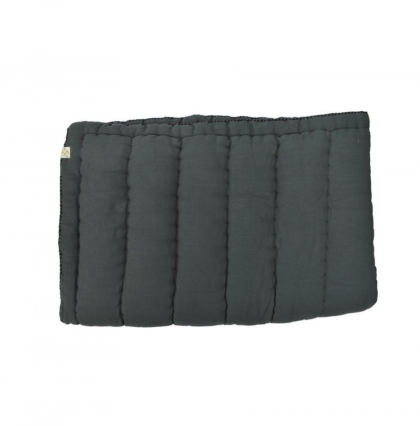 Hand Quilted blanket Dark grey