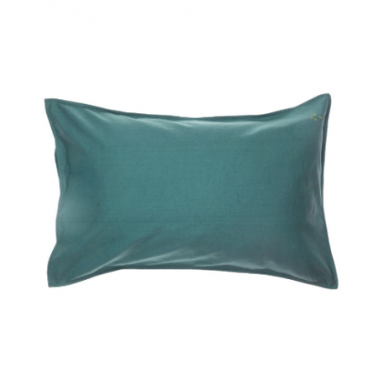 Baby Pillow case teal blue 60×40