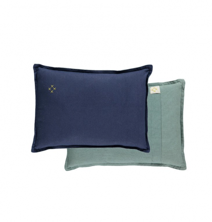 Camomile Padded Two Tone cushion Blue-Teal
