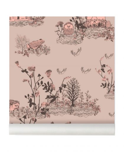 Woodlands Wallpaper brown-pink