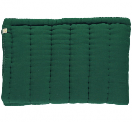 HAND QUILTED BLANKET GREEN140X200
