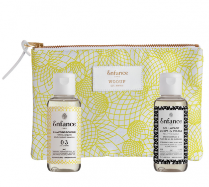 Bath Set and Cotton Pouch 0-3 years. Enfance