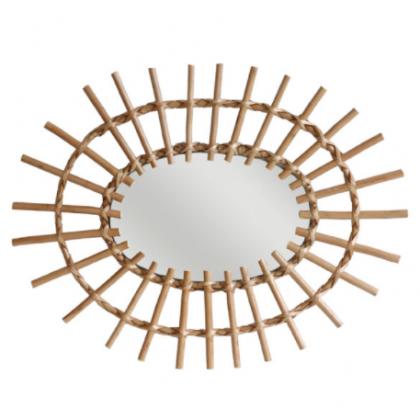 Espejo Oval de ramas de Sauce