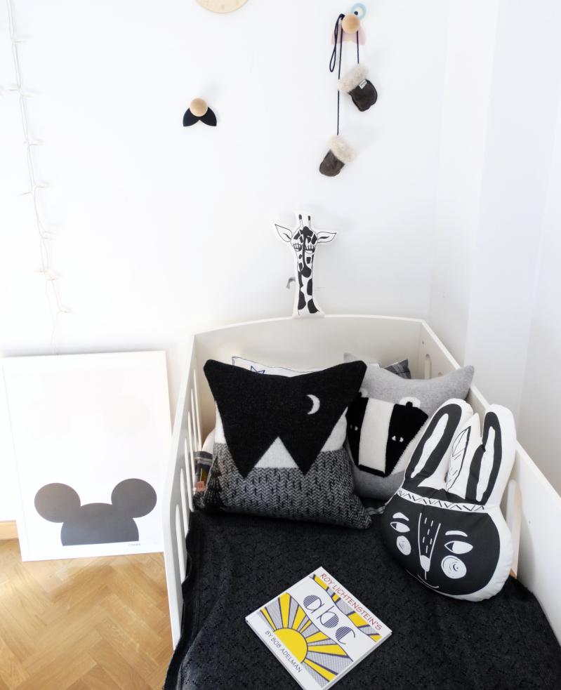 Childrens bed linen wild rabbit cushion
