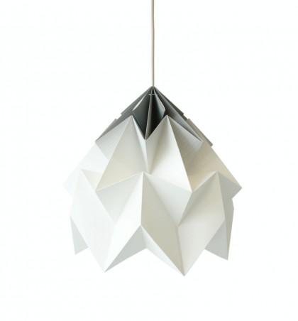 Moth XL paper origami lamp Grey