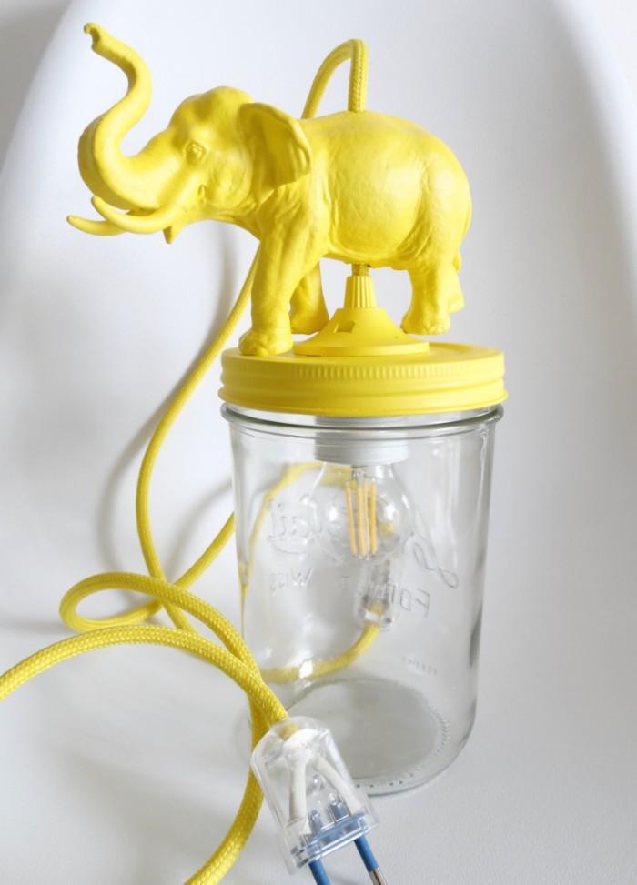 Lamparas juveniles fourelefante amarillo dormitorios - Lamparas dormitorio infantil ...