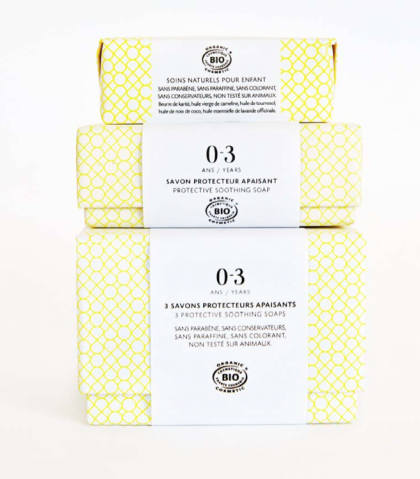 Caja de 3 jabones 0-3 años