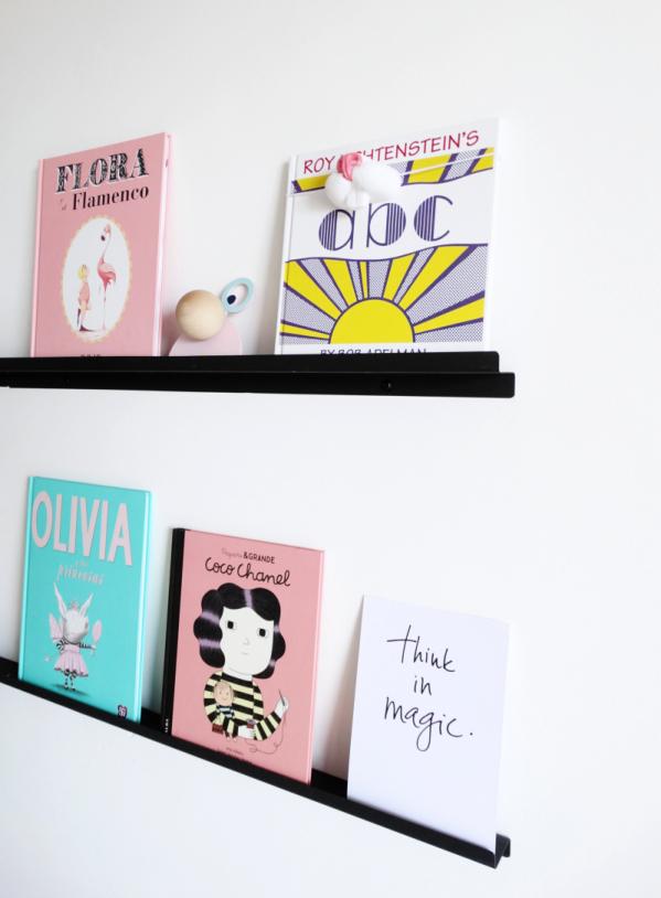 Children bedroom furniture shelf balck or white