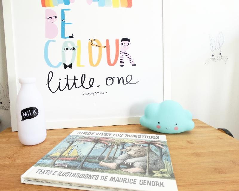"Kids wall decor posters and prints Amayadeeme ""Be color"""