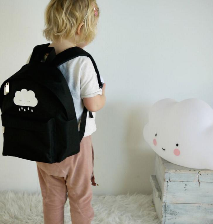 Backpack Cloud nursery black A Little Lovely Company