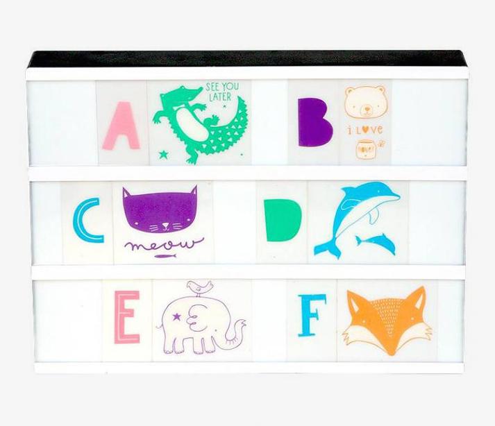 Wall art for kids Lightbox letter pastel set for kids decor
