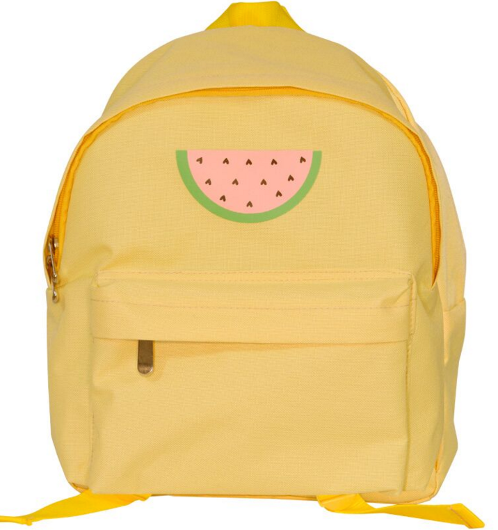 Yellow backpack watermelon baby stuff A Little Lovely Company
