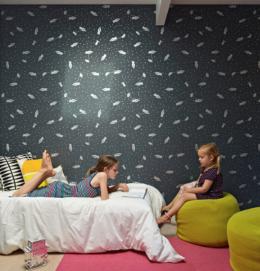 Boys wall art astrobots for baby bedroom Aimee Wilder wallpaper