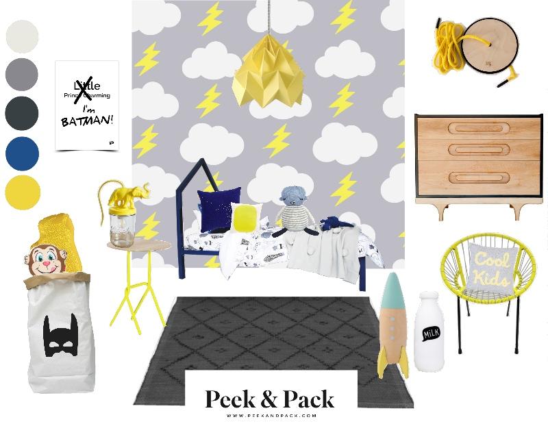 Boys wall art rain bolts for baby bedroom Aimee Wilder wallpaper