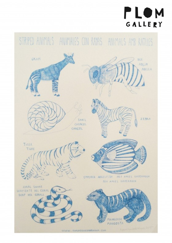 Children wall decoration stripes animals for kids rooms.