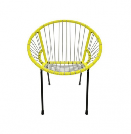 Tica Grey-Yellow Chair fashionable furniture