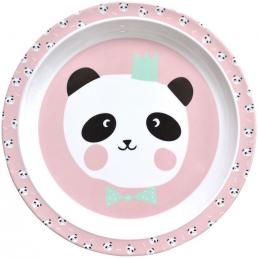 Plates for kids pink plate Panda Bear by Eeflillemor