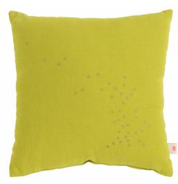 Kids cushion childrens bedroom ideas La Cerise sur le Gateau yellow