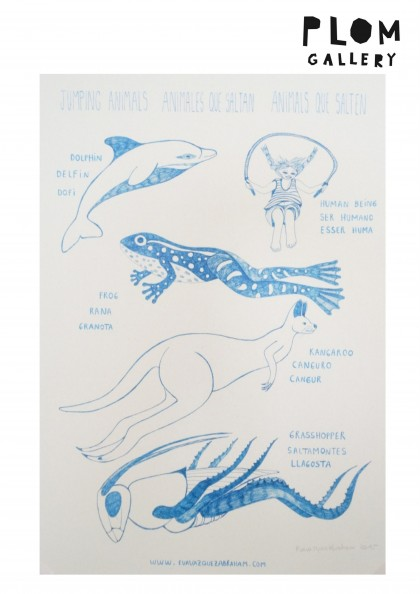 Jumping Animals print