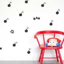 Kids wall stickers boomtastic Moonwalk Teddybear
