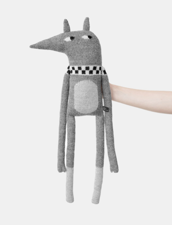 Soft toys Laterite doll grey Main Sauvage