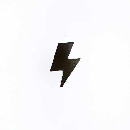 Lightning bolt wall knob