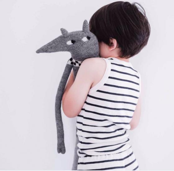 Muñecos hechos a mano en alpaca zorrito de Main Sauvage